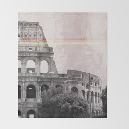 Colosseum Rome Italy Throw Blanket