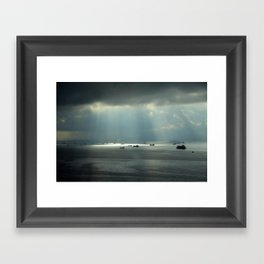 Ships at sea in Istanbul Framed Art Print
