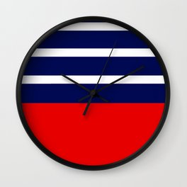 Summer Patio Perfect, Red, White & Navy Wall Clock