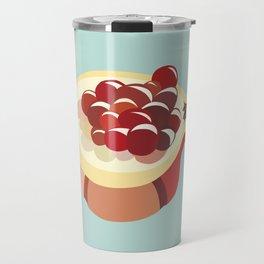 pomegranate fruit illustration Travel Mug