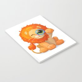cartoon lovely lion Notebook