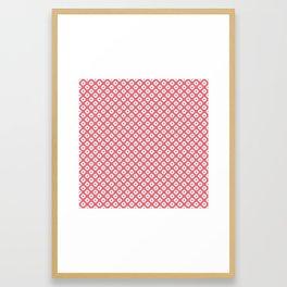 """""""Kanoko shibori"""" japanese traditional pattern Framed Art Print"""
