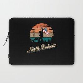 North Dakota USA Flag Laptop Sleeve