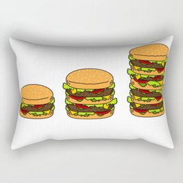 Burger explained burg Rectangular Pillow