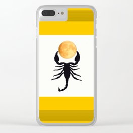 A Scorpion With The Moon In The Frame #decor #homedecor #buyart #pivivikstrm Clear iPhone Case
