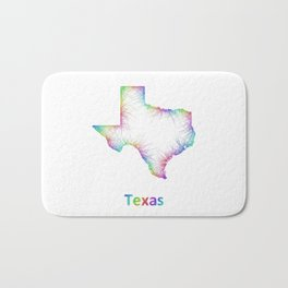 Rainbow Texas map Bath Mat