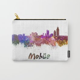 Mobile skyline in watercolor Carry-All Pouch