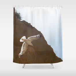 Seagull in the sky Shower Curtain
