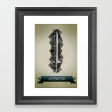 4-D Sword Framed Art Print