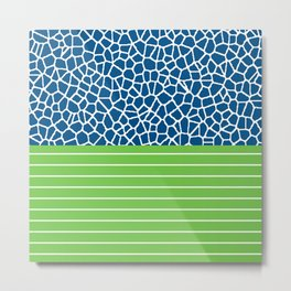 staklo (blue with green) Metal Print