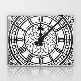 Big Ben, Clock Face, Intricate Vintage Timepiece Watch Laptop & iPad Skin
