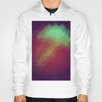 pixel Hoodies featuring Jelly Pixel by Katie Troisi