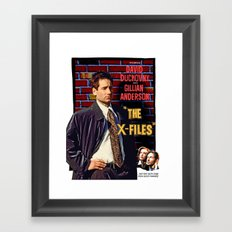 The X-Files as Rebel Without A Cause Framed Art Print