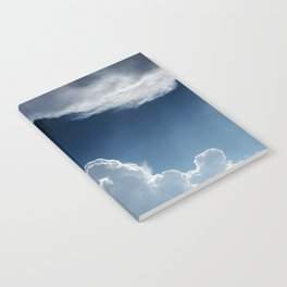 Sky, clouds and lights. Notebook