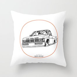 Crazy Car Art 0207 Throw Pillow