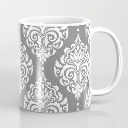 Grey Damask Coffee Mug