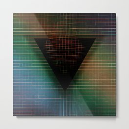My Mysterious Friend, the Triangle Metal Print