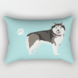Alaskan Malamute funny fart dog breed gifts Rectangular Pillow