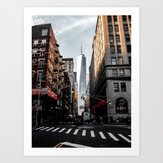 Lower Manhattan One WTC Art Print