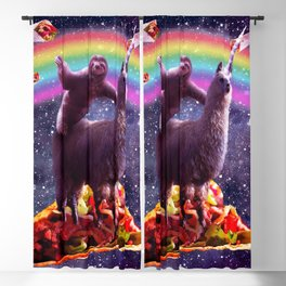 Space Sloth Riding Llama Unicorn - Taco & Burrito Blackout Curtain