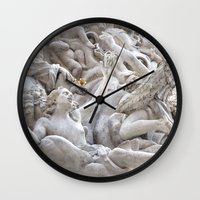 angels Wall Clocks featuring Angels by Photographicleigh