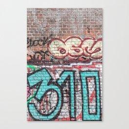 Wall With Street Grafitti Canvas Print