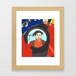 King Henry VIII Plays Shuffle Framed Art Print