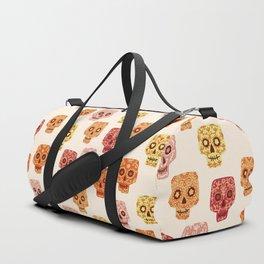 Dia de los Muertos Mexican Decorated Skull Art Duffle Bag