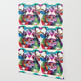 Colorful Pig Art - Squeal Appeal - By Sharon Cummings Wallpaper