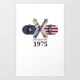 1975 Generation X American Skateboard Art Print