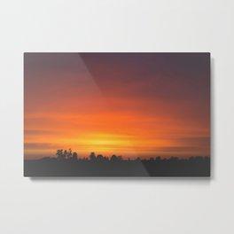 SUNRISE - SUNSET - ORANGE SKY - PHOTOGRAPHY Metal Print