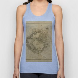 Map Of Canary Islands 1563 Unisex Tank Top