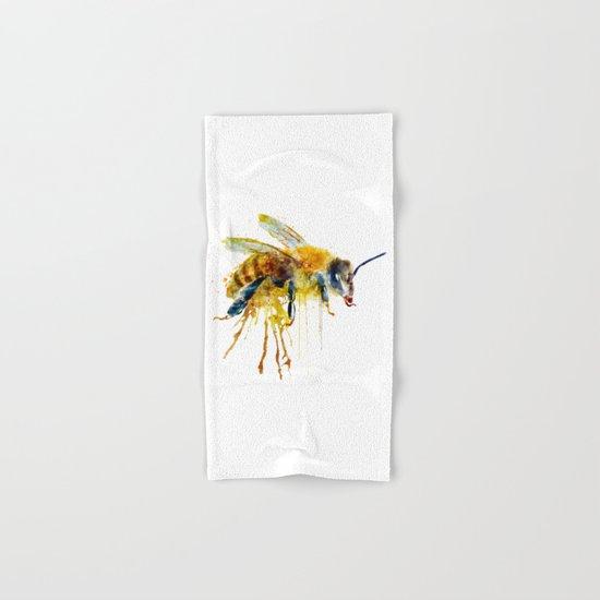 Watercolor Bee Hand & Bath Towel