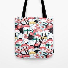 Kawaii Sushi Crowd Tote Bag