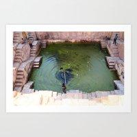 pool Art Prints featuring Pool by Avigur