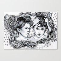 tegan and sara Canvas Prints featuring Tegan & Sara by JenHoney