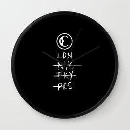 True Course Co - LDN black Wall Clock