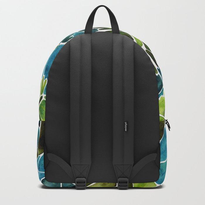 Schismatoglottis Calyptrata – Teal Palette Backpack