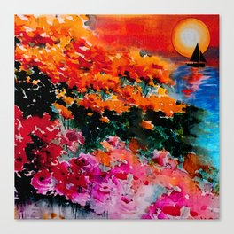 Sunsets Bloom Canvas Print