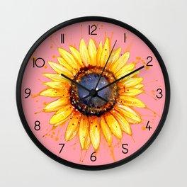 Sunflower Burst Wall Clock