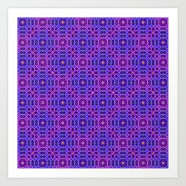 PURPLE PANACHE PATTERN Art Print