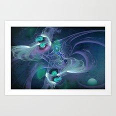 Dance Fractal Art Print
