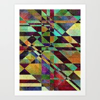 fault Art Prints featuring Fault Lines by Klara Acel