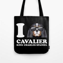 I Love Cavalier King Charles Spaniel modern v2 Tote Bag