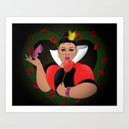 Jiggly De Los Corazones Art Print