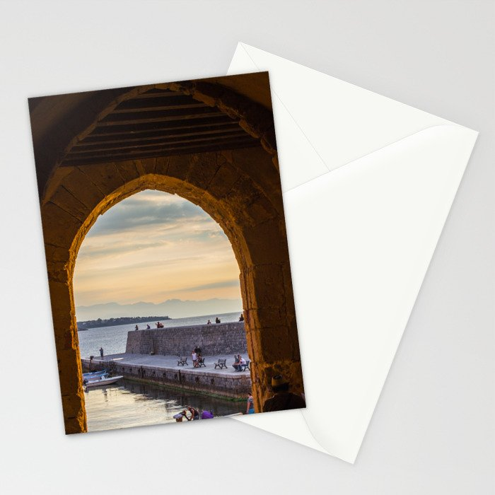 Sunset in Cefalu Stationery Cards