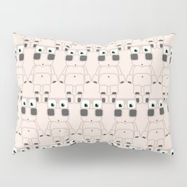 Super cute cartoon white pig - bring home the bacon with everything for the pig enthusiasts! Pillow Sham