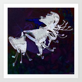 4 Silver Trumpets Art Print