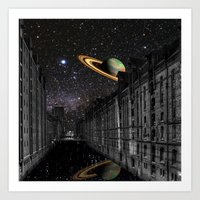 saturn Art Prints featuring Saturn by Cs025