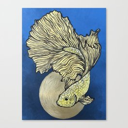 Golden Betta Canvas Print